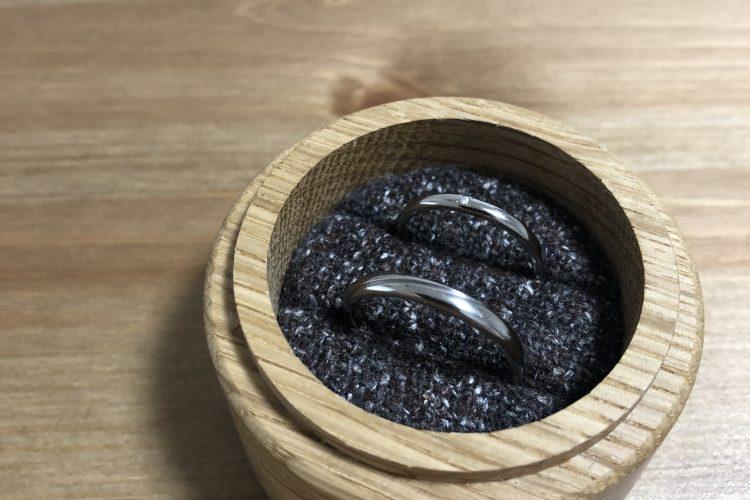 クリーニング後の結婚指輪