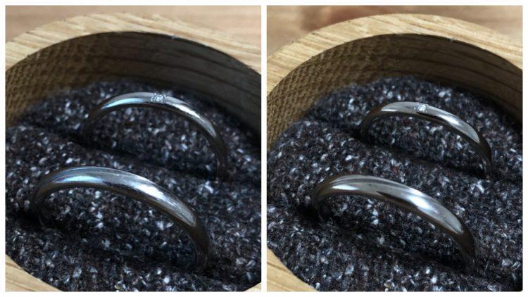 クリーニング前・クリーニング後の結婚指輪