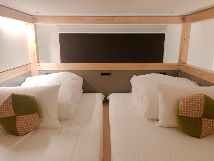 「星野リゾート OMO5 東京大塚」の部屋(ベッド)