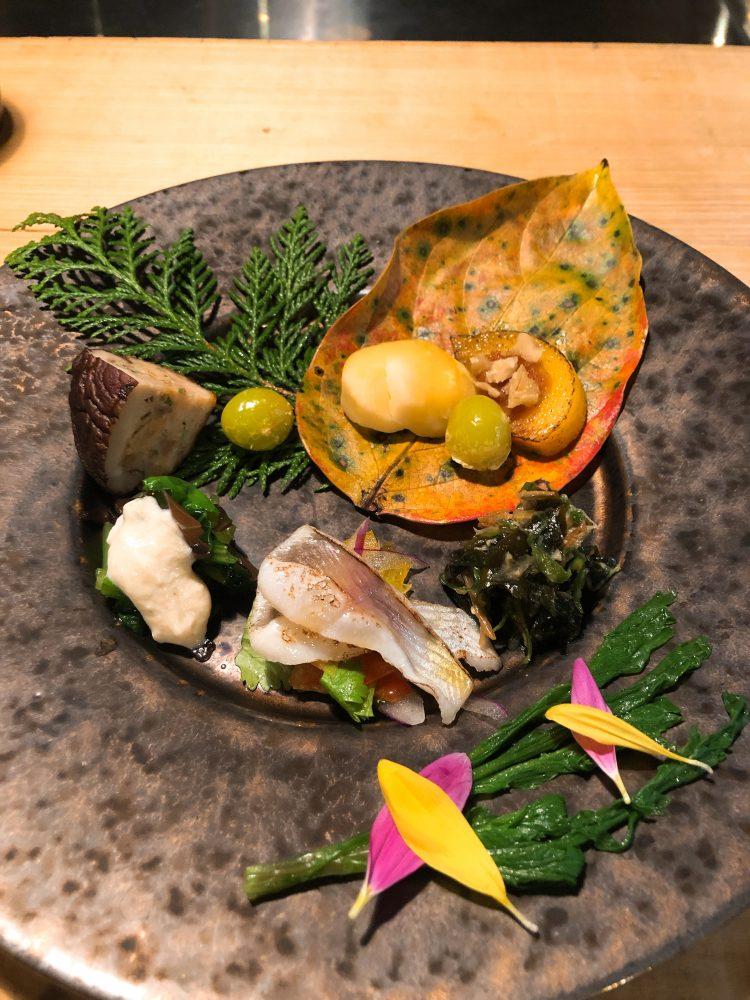 「NIPPONIA 小菅 源流の村」の夕食(八寸)