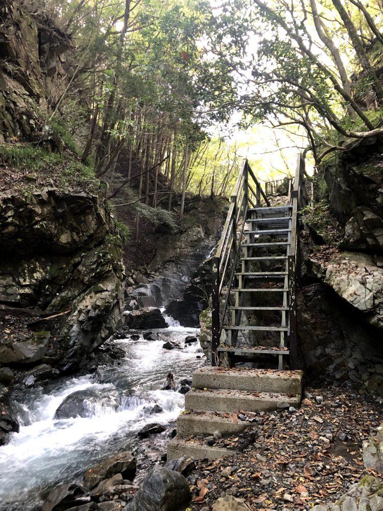 「NIPPONIA 小菅 源流の村」近くの観光スポット・白沢滝の周辺の様子