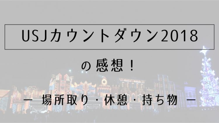 USJカウントダウン2018の感想!【場所取り・休憩・持ち物】